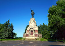 Architecture in Kostroma city, monument Lenin Stock Images