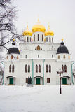 Architecture of Kremlin in Dmitrov city, Moscow region, Russia Royalty Free Stock Image