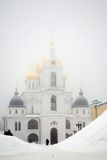 Architecture of Kremlin in  Dmitrov city, Moscow region, Russia Royalty Free Stock Photo