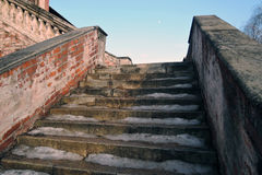 Architecture of Ktutitsy in Moscow. Old steps. Stock Photos