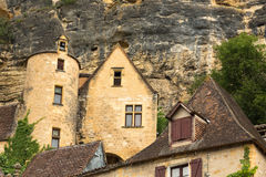 The Architecture of La Roque-Gageac Royalty Free Stock Images