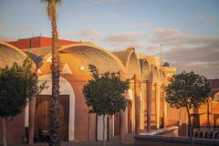 Architecture of Laayoune. Laayoune, Western Sahara, Morocco royalty free stock images