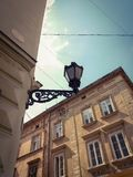 Architecture. Lamp, street, old, city stock photos