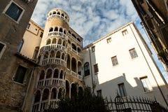 Architecture landmark  Palazzo Contarini del Bovolo with famous Royalty Free Stock Photos