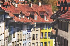 Architecture. Landscape of Bern Switzerland. Old buildings stock image