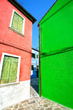 Architecture landscape on Burano island Stock Photo