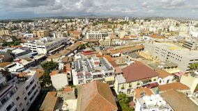 Architecture in Larnaca resort city center and cloudy skyline, travel to Cyprus. Stock photo stock image