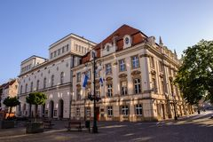 Architecture in Legnica. Poland. LEGNICA, POLAND - JUN 16, 2014: Architecture of Legnica in Poland. Legnica is a former capital of the the Legnica Voivodeship (1 stock image