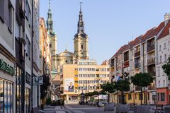 Architecture in Legnica. Poland. LEGNICA, POLAND - JUN 16, 2014: Architecture of Legnica in Poland. Legnica is a former capital of the the Legnica Voivodeship (1 stock photos