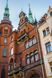 Architecture in Legnica. Poland. LEGNICA, POLAND - JUN 16, 2014: Architecture of Legnica in Poland. Legnica is a former capital of the the Legnica Voivodeship (1 royalty free stock photo