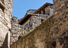 The Architecture of Les Baux Stock Photo