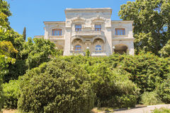 Balconies of the Levadsky Palace. Architecture of the Levada Palace in Yalta Royalty Free Stock Image
