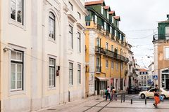 Architecture of Lisbon, Portugal stock photography