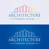 Architecture Logo. Vector illustration. A logo design for architecture, building, real estate, finance, business company Royalty Free Illustration