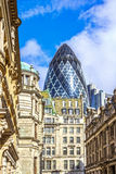 Architecture of London, business district, futuris Stock Photography
