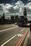 Architecture London Thames Bus Big Ben Royalty Free Stock Photos