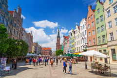 Architecture of the Long Lane in Gdansk Royalty Free Stock Photography