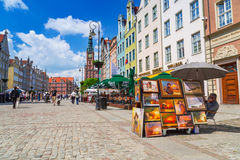 Architecture of the Long Lane in Gdansk Royalty Free Stock Photo