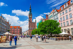 Architecture of the Long Lane in Gdansk Stock Photo
