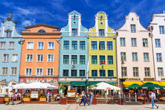 Architecture of the Long Lane in Gdansk Royalty Free Stock Image