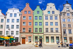 Architecture of the Long Lane in Gdansk Stock Photos