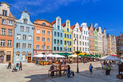 Architecture of the Long Lane in Gdansk Stock Photography