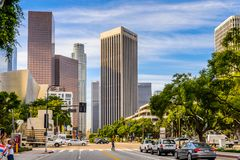Architecture of Los Angeles, California, USA. LOS ANGELES - SEP 28, 2015: Architecture of the Downtown of Los Angeles, California. Downtown Los Angeles is the Royalty Free Stock Images