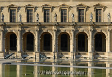 Architecture of louvre square courtyard Stock Photography