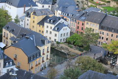 Architecture in Luxembourg. Architecture and narrow streets in Grunt, Luxembourg Stock Image