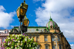 Architecture. Of Lviv city buildings Royalty Free Stock Image