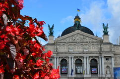 Architecture. Of Lviv city theatre Stock Photography