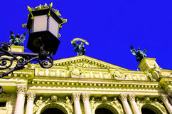 Architecture. Of Lviv city theatre Stock Images