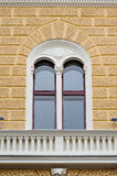 The architecture of Lviv. Window and columns Stock Photography