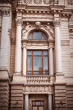 The architecture of Lviv. Window and columns Royalty Free Stock Photos