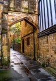 Architecture médiévale de Sherborne dans le comté de Dorset en Angleterre images stock