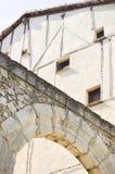 Architecture médiévale de ville en Espagne image stock