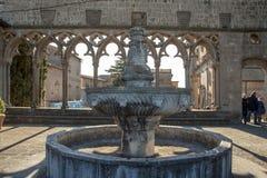 Architecture médiévale du palais des papes images libres de droits