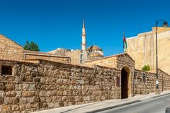 Architecture of Madaba, Jordan. MADABA, JORDAN - APR 28, 2014: Architecture in  Madaba, Jordan. Madaba dates from the Middle Bronze Age and called The City of Stock Images