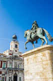 Architecture of Madrid, the capital of Spain Stock Images