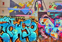 Architecture Graffiti of Madrid royalty free stock image