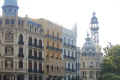 Architecture in the main square in Valencia Royalty Free Stock Photography