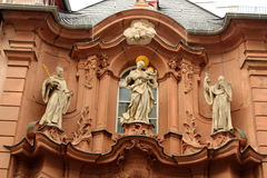 Architecture of Mainz, Germany. Historic architecture of Mainz, Germany. Augustinian Church facade Stock Image