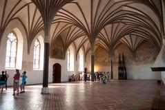 Architecture of Malbork Castle stock image