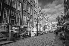 Architecture of Mariacka street in Gdansk Royalty Free Stock Images
