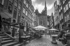 Architecture of Mariacka street in Gdansk Stock Photography