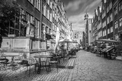 Architecture of Mariacka street in Gdansk Stock Images