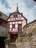 Architecture of the Marksburg castle, Stock Photo