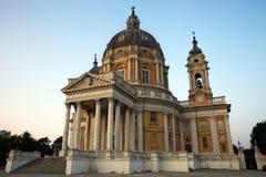 Architecture masterpiece Turin Superga. View of Superga Basilica Turin, Piedmont, Italy Royalty Free Stock Image