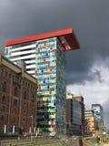 Architecture at Medienhafen Dusseldorf, Germany Stock Photo