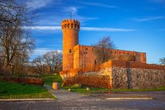 Architecture of medieval Teutonic Castle in Swiecie. Poland Stock Image